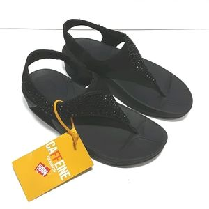 NWT FitFlop Women's Skylar Crystal Thong Sandals